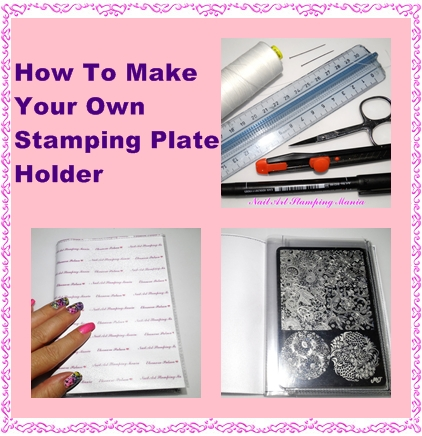 nail art stamping mania how to make your own stamping plate holder