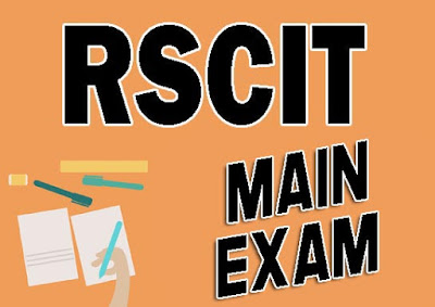 RSCIT External Exam in Hindi 2018-19,RSCIT Main Exam in Hindi, rscit main exam in english, rscit main exam 2019