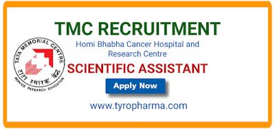 TMC Pharmacist Vacancy, Tata Memorial Centre Recruitment,TMC Recruitment 2021,Varanasi,D.Pharm,B.Pharm,pharmacist job,Vacancies,Scientific Assistant