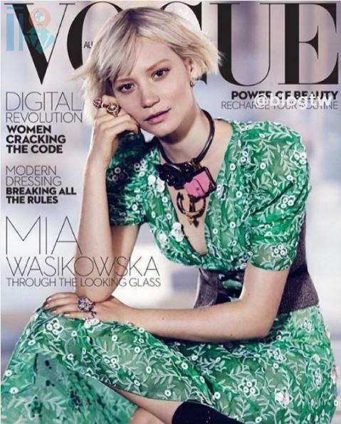Mia Wasikowska a  Alice do pais das maravilhas, Vogue Australiana