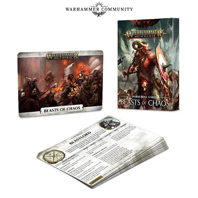 warscroll cards Battletome Bestias del Caos