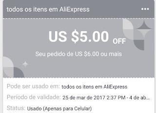 cupom de desconto aliexpress 2017