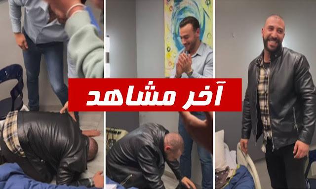 """نضال السعدي يسجد باكيا بعد تصوير آخر مشهد له في """"الفوندو"""""""
