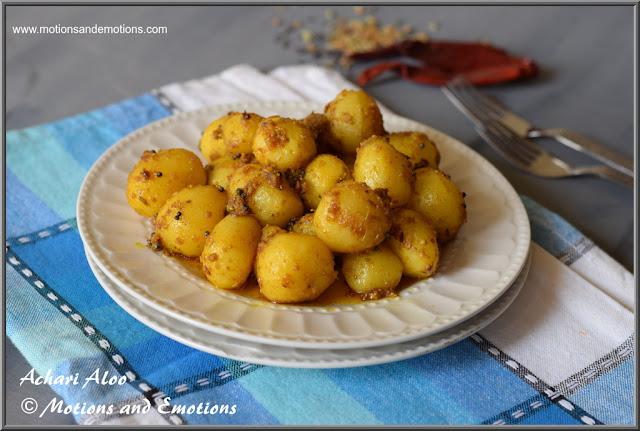 Achari Aloo Recipe with babby potatoes