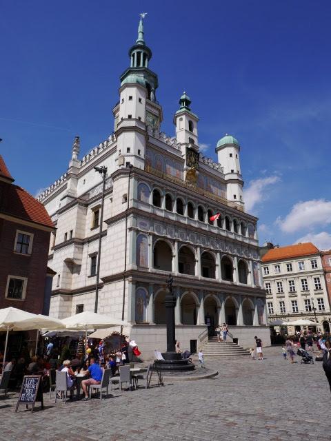 Stadhuis op Marktplein in Poznan, Polen