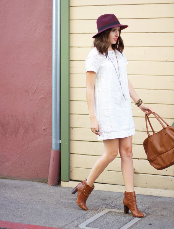 Transition a white dress into Fall