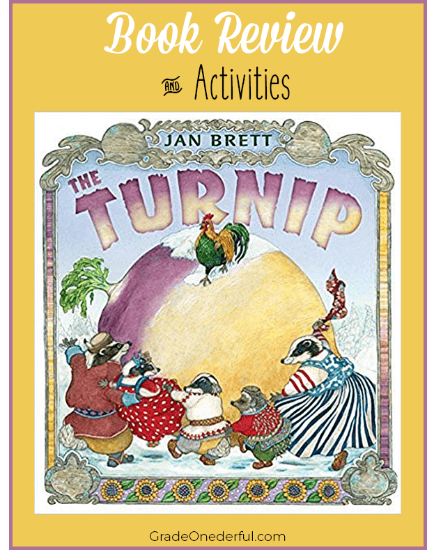 The Turnip by Jan Brett. Book review with activities.