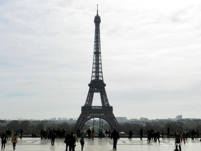 Plaza Trocadero, Torre Eiffel, París