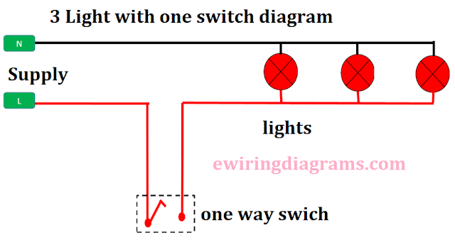 wiring multiple lights to one switch diagram