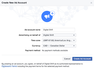 How To Create A Facebook Ad Account Step 2
