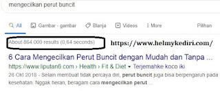 cek jumlah kompetitor via google