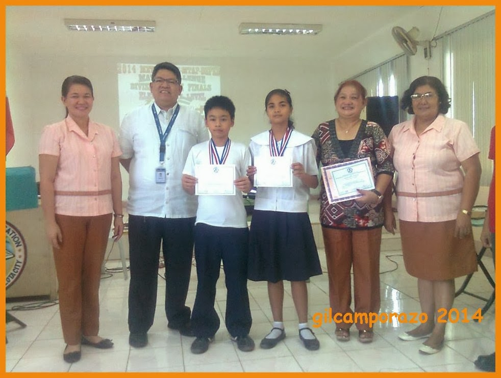 La Carlota South ES 1 Grade VI pupils, the MTAP Math challenge champion