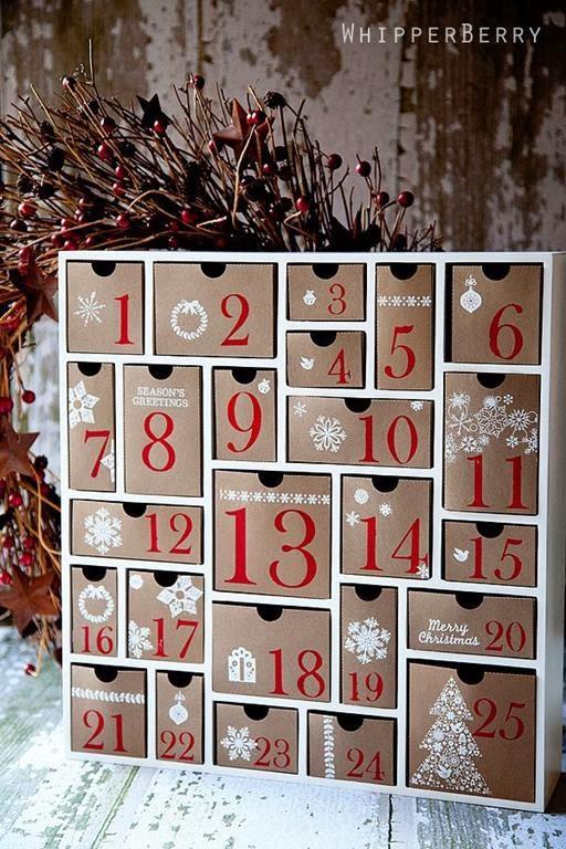kalendarz adwentowy pudełka, szufladki
