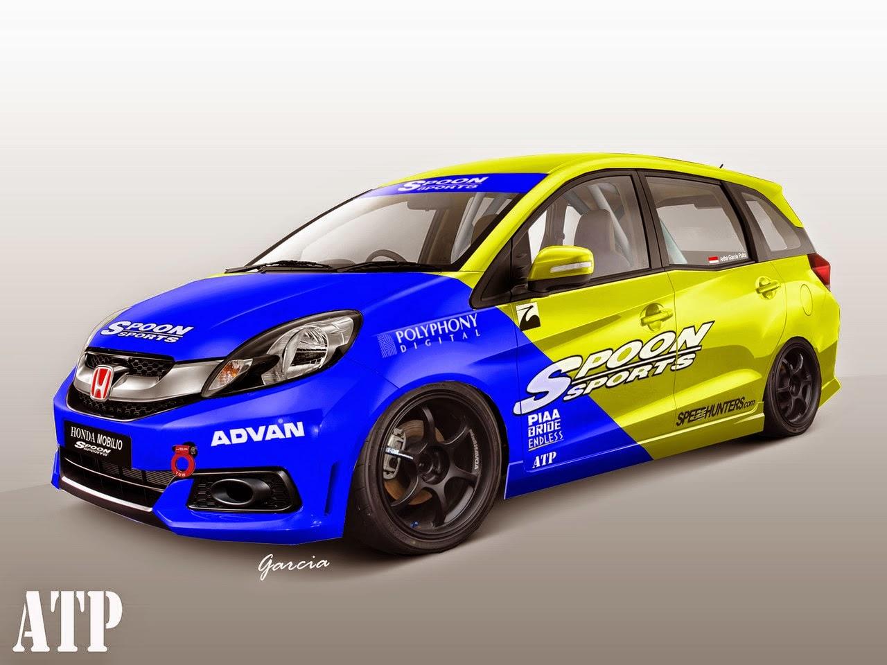 Gambar Desain Modifikasi Mobil Honda Mobilio Warna Putih ...