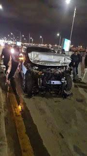 بالصور: تعرض عمرو أديب لحادث سير في 6 اكتوبر.. ونقلة إلي المستشفي