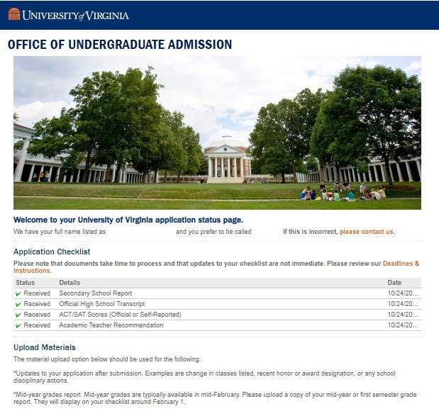 Notes from Peabody: The UVA Application Process
