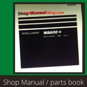 Komatsu WA600-8 shop manual wheel loader