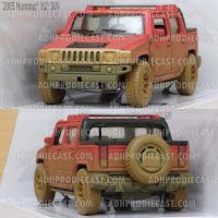 Miniatur Hummer H2 SUT Dirt (Red-32K)