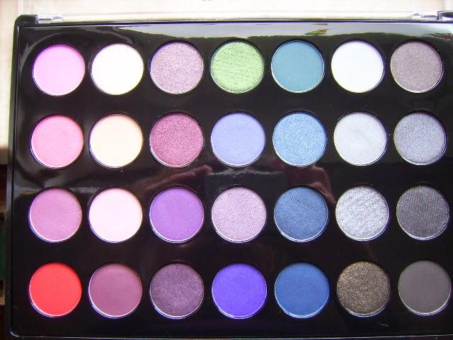 28 Lidschatten Farben