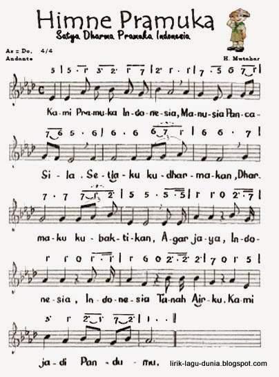 Notasi - Not Angka Hymne Pramuka - Not Balok
