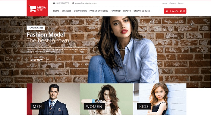 MegaShop Responsive Ecommerce Blogger Template Free Download