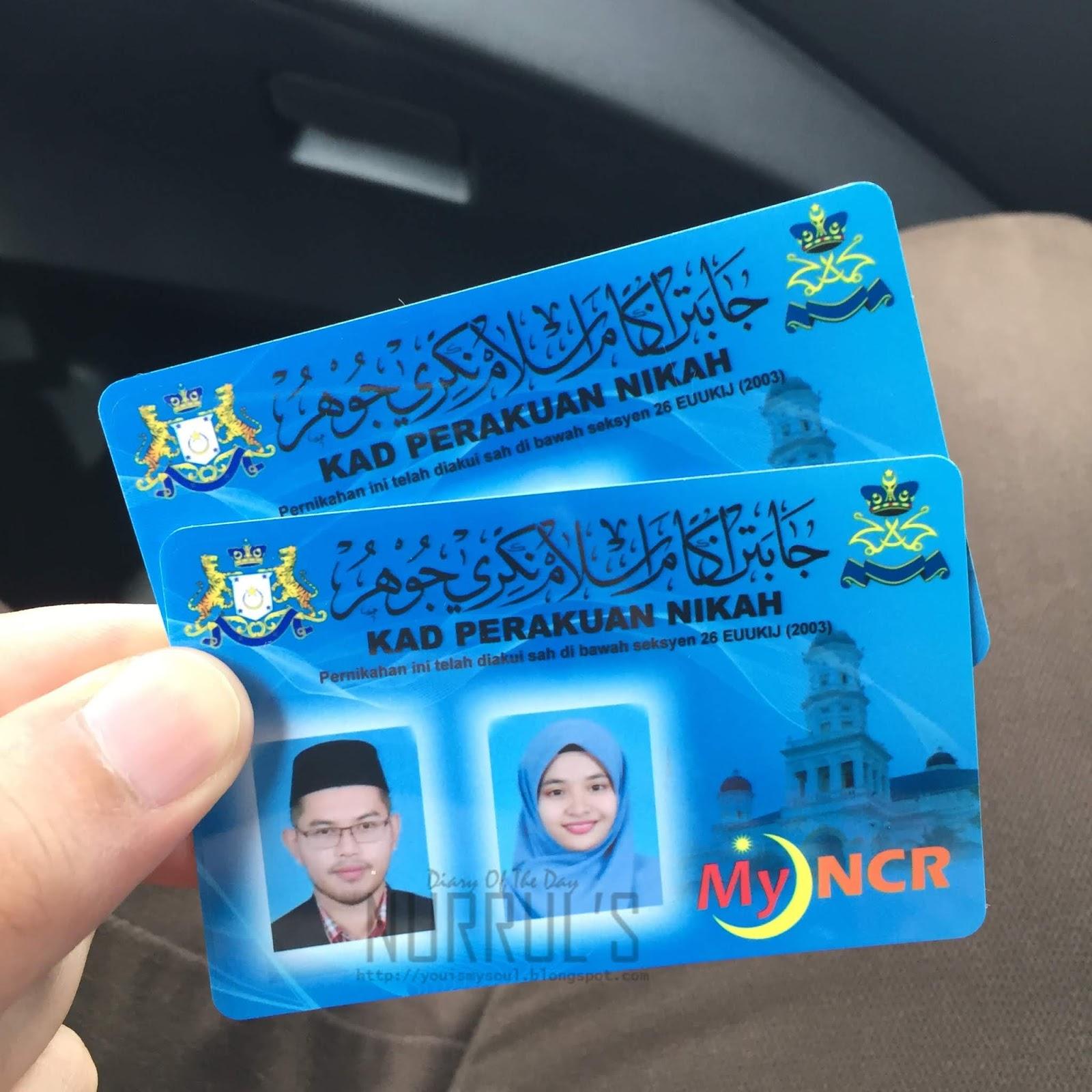 Info Sijil Nikah Dan Kad Perakuan Nikah Myncr Johor