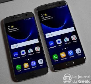 ماهو الفرق بين  Galaxy S7 و Galaxy S7 edge