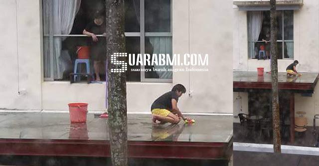 TKW Ini Disuruh Majikannya Bersihkan Balkon Tanpa Pengaman, Majikan Langsung Dilaporkan ke MOM
