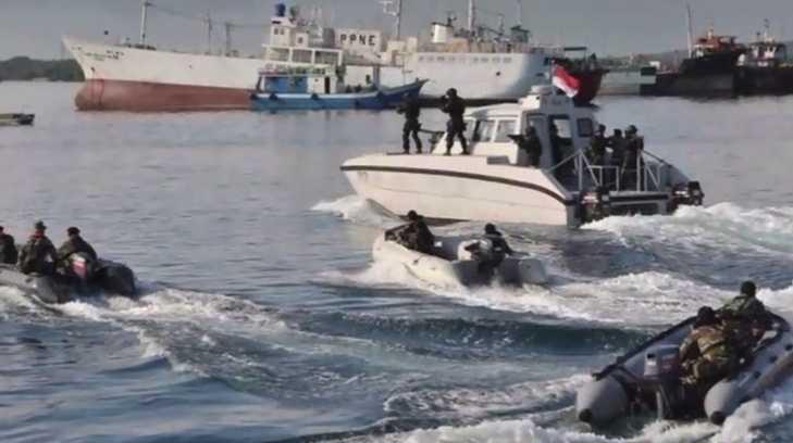 Foto operasi militer Indonesia saat pembebasan sandera di Somalia