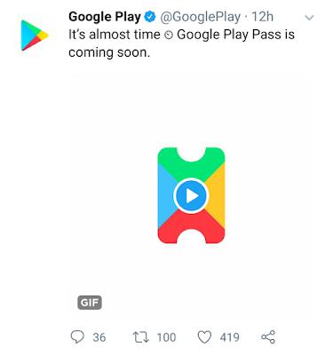 google play tweet on google play pass