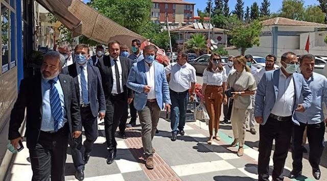 DEVA Partisi Heyeti, Bozova çiftçisini ve esnafını dinledi
