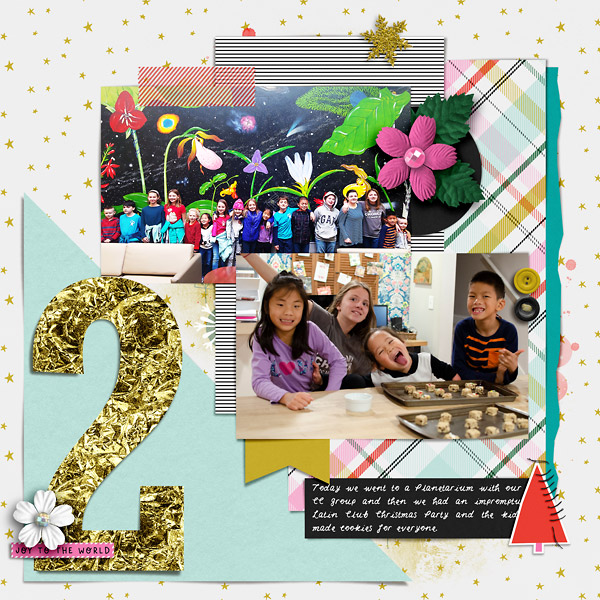 Digital Scrapbook Page - DYD Day 2