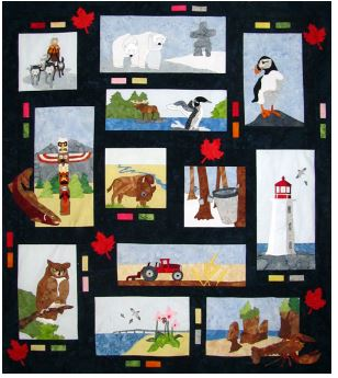 Quilting & Learning - What a Combo!: Celebrate - Fêtons 150 in April : along came quilting calgary - Adamdwight.com