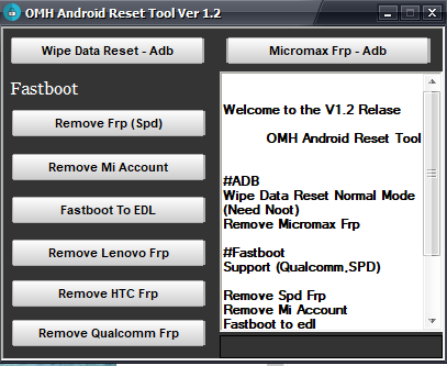 omh_androidFrp reset tool