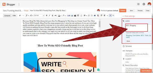 Labels In Blogger