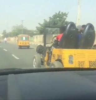 Man Converts His Keke To A Rover To Carry Passengers In Lagos (Photos)