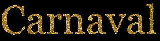 Texto Carnaval dourado png