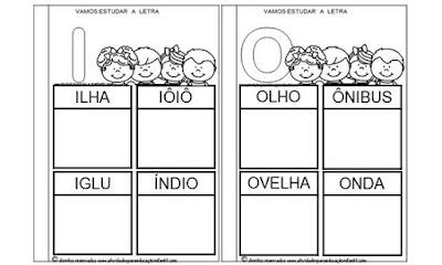 Atividades educação infantil vogais