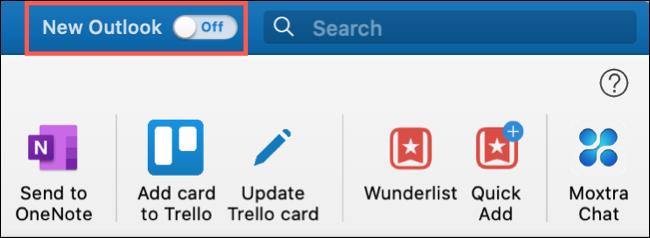 قم بتشغيل التبديل لـ New Outlook