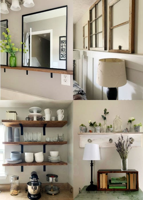 11 ideas for shelves around the home
