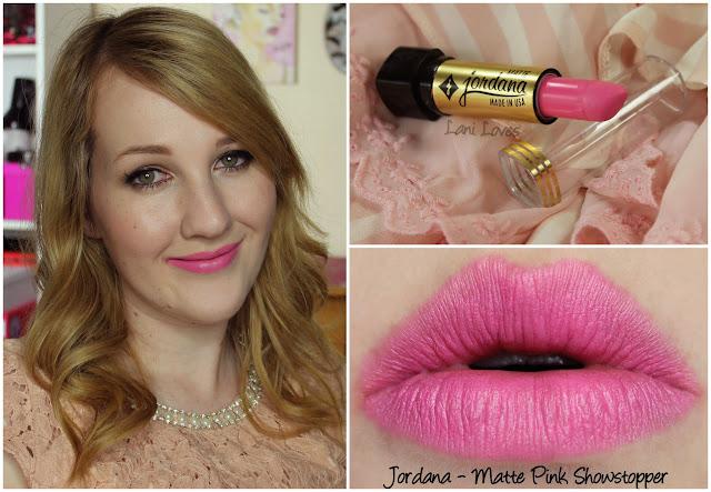 Jordana Matte Pink Showstopper lipstick swatch