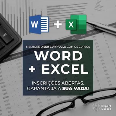 Cursos de Word e Excel 2 Cursos Livres Pela Compra de 1