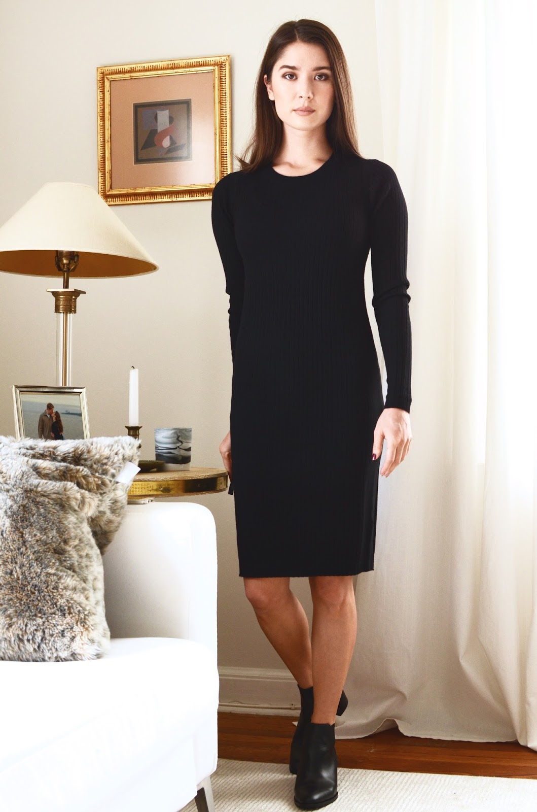 Everlane Luxe Wool Ribbed Long-Sleeve Dress | By Georgia Grace