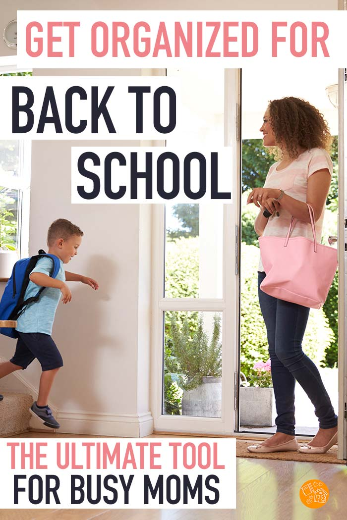 Everything moms need to get organized for back to school! Be ready for the school year with tools to help you create morning routines, organize your home, conquer clutter and have the best school year ever. includes tons of printables and so much more! #backtoschool #organize #momlife #organization