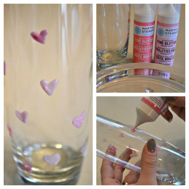Valentine's DIY painted vase steps
