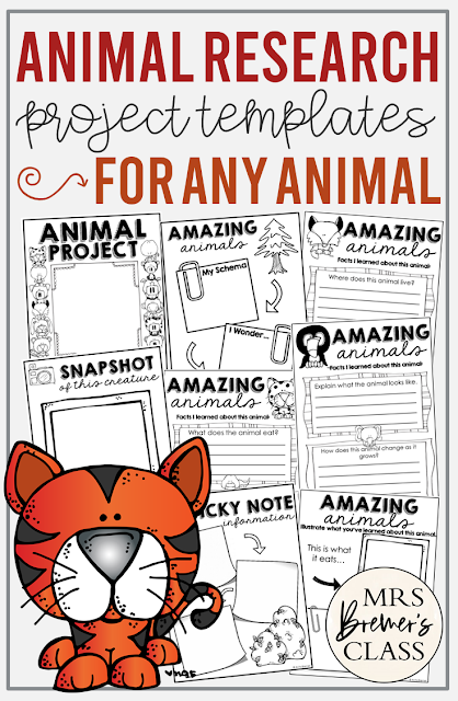 Animal Research Project book template for ANY animal in First Grade and Second Grade