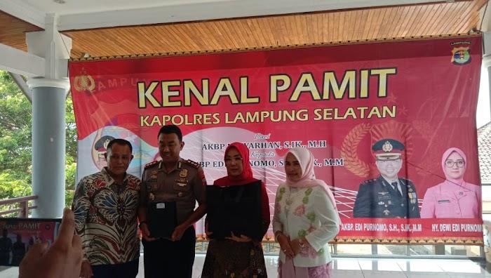Plt.Nanang Ermanto Hadir Dalam Acara Kenal Pamit Kapolres Lamsel.