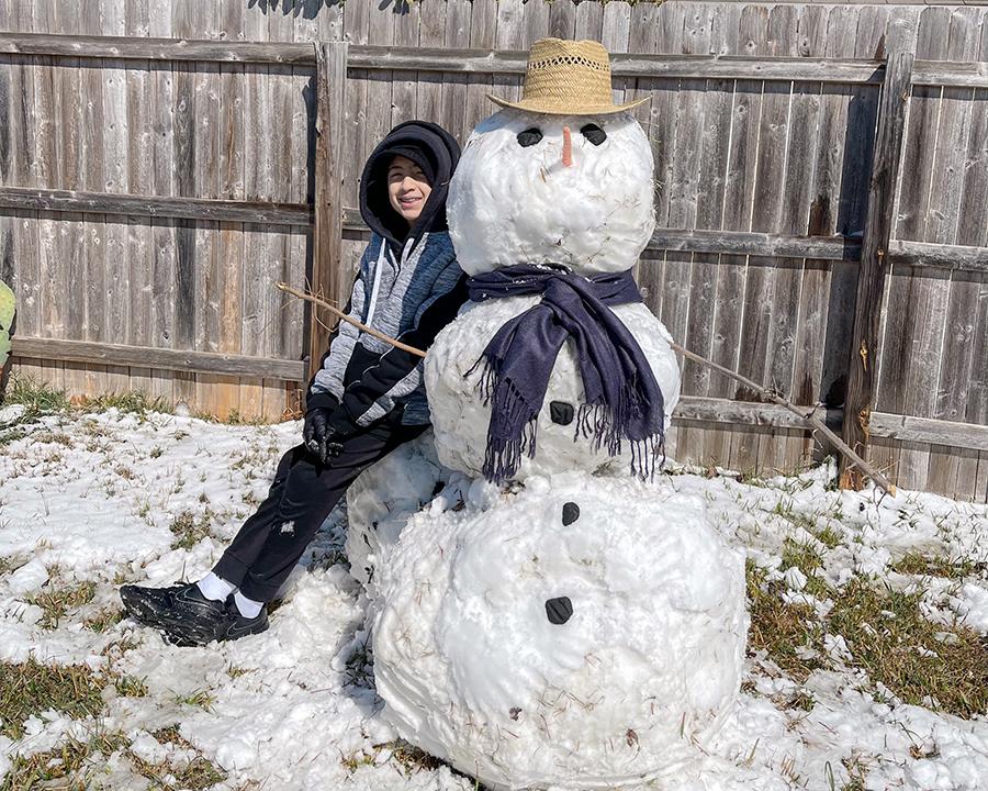 2021 Texas Snowman