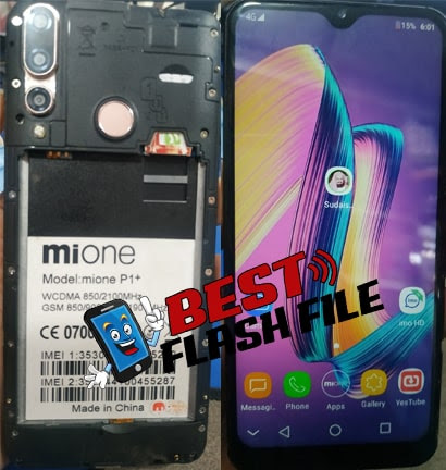 Mione P1+ Flash File (MT6580) 100% Tested Firmware