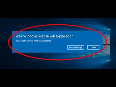 your windows license will expire soon solution